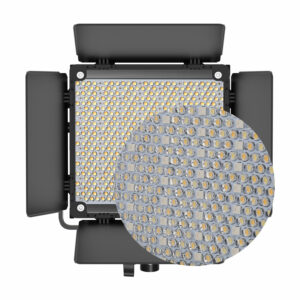 GVM-850D 40W High Beam Bi-Color and High Power RGB Video Lighting Kit 2-Video-Light-Kit