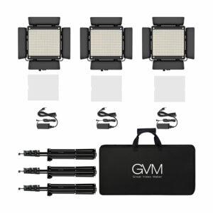 GVM-480LS 29W High Beam Bi-Color LED Video Soft Light 3-Video-Light-Kit