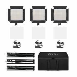 GVM-520S 30W High Beam High Brightness Bi-Color LED VIdeo Soft Light 3-Light-Kit