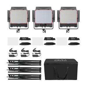 GVM 50SM Double-sided High Beam Bi-Color & High Power Brightness RGB Light 3-Light-Kit