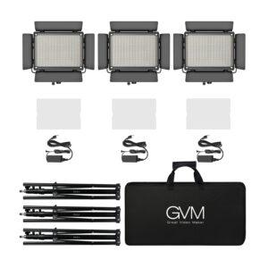 GVM 880RS RGB LED Studio 3-Video-Light-Kit
