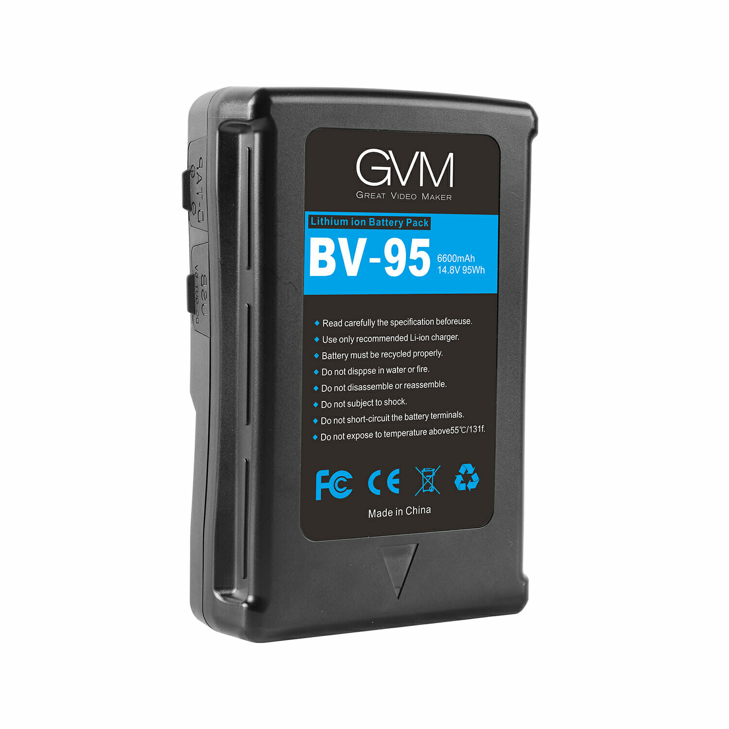 GVM BV-95 Battery both D-Tap and DC outputs