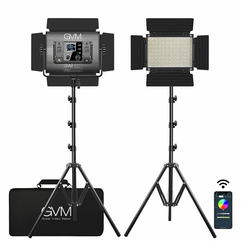 GVM-1000D 45W Bi-Color & RGB 2-Video-Light-Kit