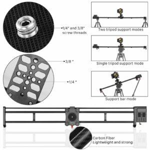 "GVM GT-120WD Wireless Carbon Fiber Motorized Camera Slider (47"")"