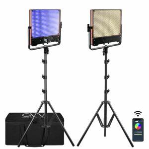 GVM 50SM Double-sided High Beam Bi-Color & High Power Brightness RGB Light 2-Light-Kit