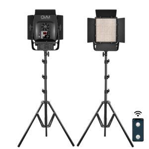 GVM S900D LED Studio Video Light Bi-Color 2-Light-Kit