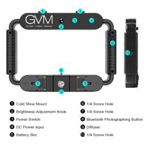 GVM LT-10S 10W Daylight with Bi-Color Soft board LED On-Camera Light