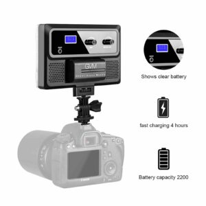 GVM RGB-10S 10W High Power RGB On-Camera Video Light With Bi-Color