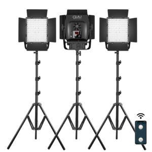GVM-LT100S 100W High Power Bi-Color Lens Light beads Video Lighting Kit 3-Light-Kit