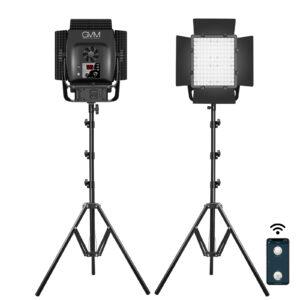 GVM-LT50S 50W High Power Bi-Color Lens Light beads Video Lighting Kit 2-Light-Kit