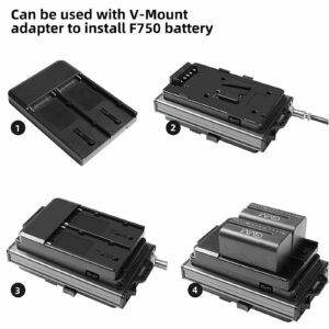 GVM V-Mount Battery Plate Adapter for RGB-150S and LS-150D LED Lights