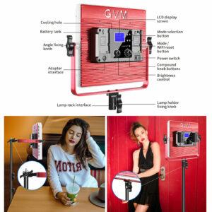GVM R50R288 50W High Power Soft Light Bi-Color & RGB Video Light 2-Light-Kit