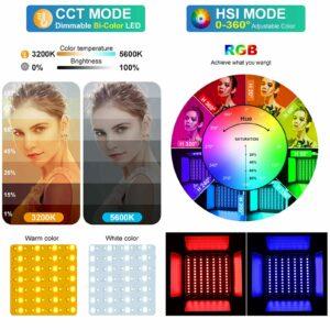 GVM Professional RGB Soft Lighting Kit Master-Slave Mode 800D RGB Light+80W Spotlight