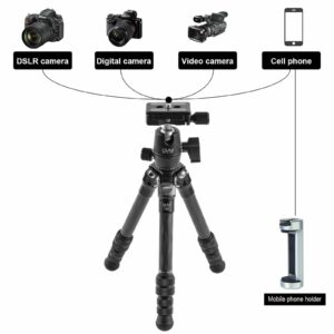 GVM JJ-G265 Carbon Fiber Camera Tabletop Mini Tripod