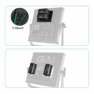 GVM VM-F790 6600mAh Li-ion Batteries with Dual Charger and V-Mount Adapter