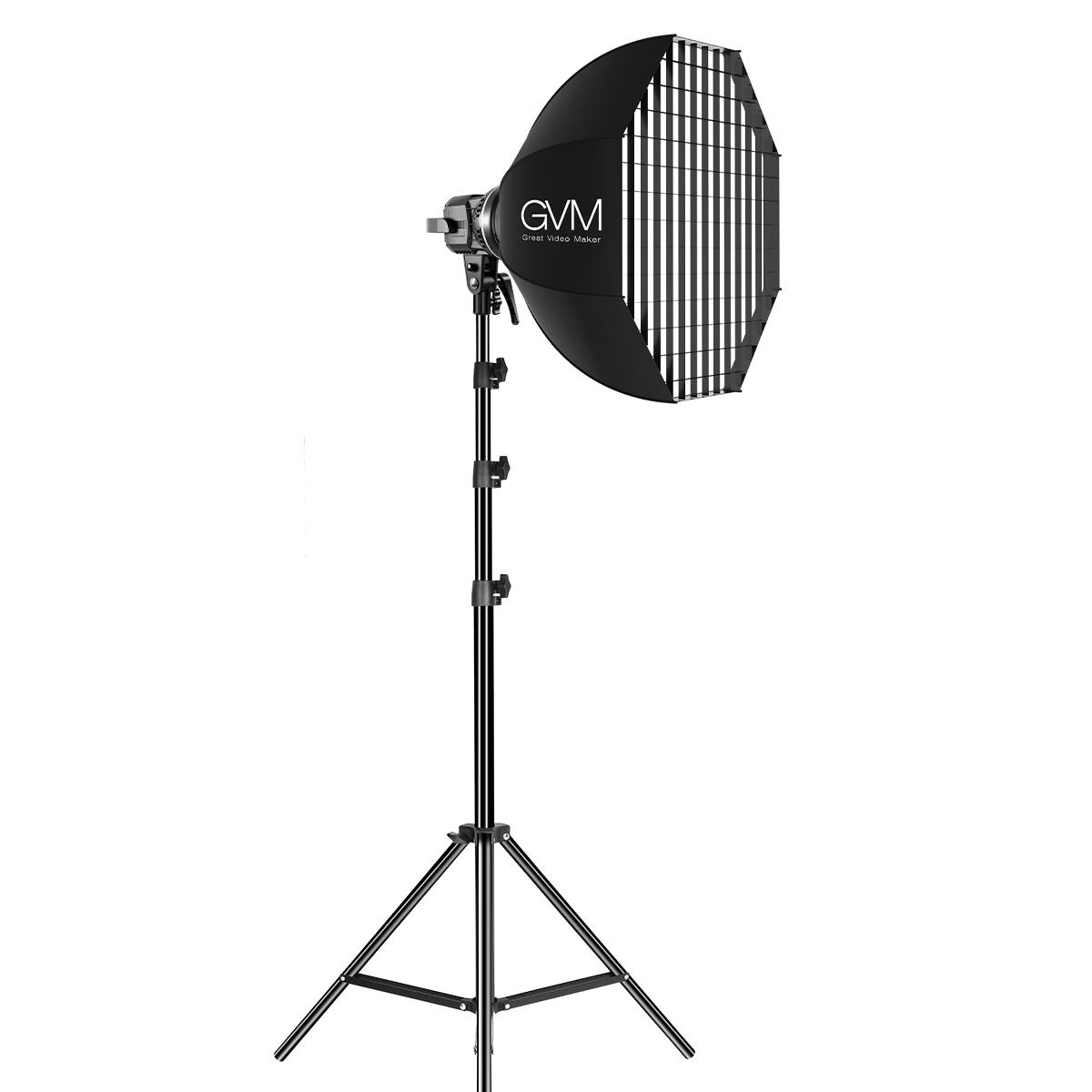 GVM P80S-2 80W LED Spotlight Daylight Kit with Softbox