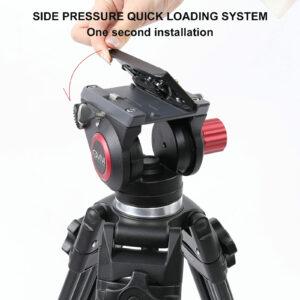 GVM 7017D Aluminum Video Tripod with Fluid Head System