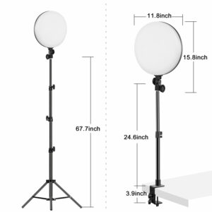 GVM-YR200D LED Bi-Color Soft Video Light Panel Kit with Two Stands