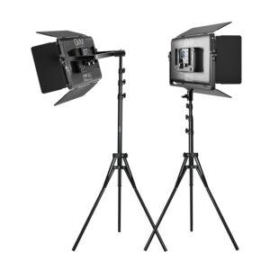 GVM-1500D 75W Powerful Bi-color and RGB Video Panel Light 2-Light-Kit