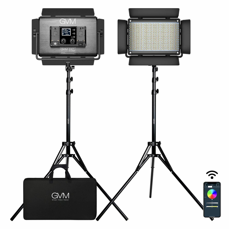 GVM-1300D 65W Powerful Bi-color and RGB Video Panel Light 2-Light-Kit