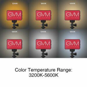 GVM 5S Bi-color On-Camera Video Light LED Light Panel