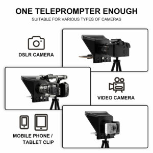 GVM TQ-S Teleprompter for iPad Tablet & Smartphone with Bluetooth APP Control