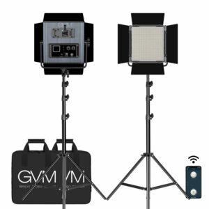GVM LED-1200 65W Powerful Bi-color Video Panel Light Kit 2Pcs