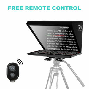 GVM TQ-LD Teleprompter for iPad Tablet & Smartphone with Bluetooth APP Control