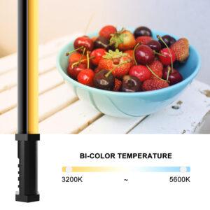 GVM-BD-100D RGB & Bi-Color Wand Light 2 Light Kit