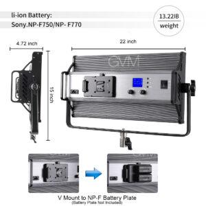 GVM 110S RGB Powerful Bi-color and RGB Video Panel Light